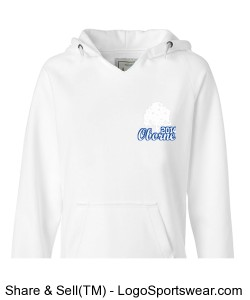 J. America - Ladies Sydney Brushed V-Neck Hooded Sweatshirt Design Zoom